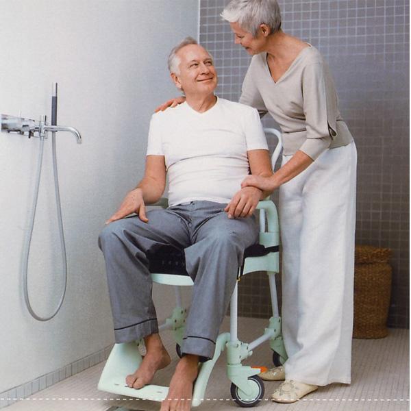 Dusch- und Toilettenrollstuhl CLEAN Duschhilfen Reha Service